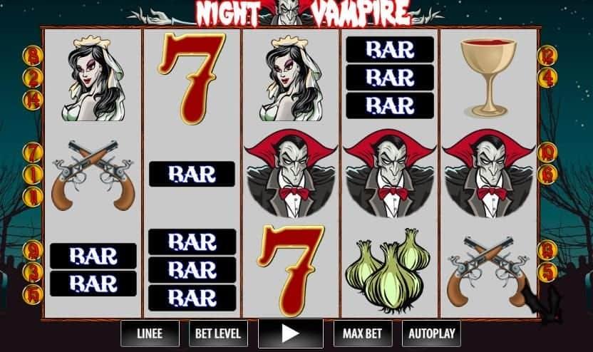 I simboli della slot online Night Vampire