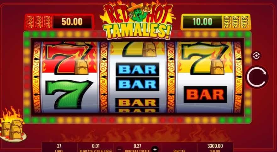 I simboli della slot online Red Hot Tamales