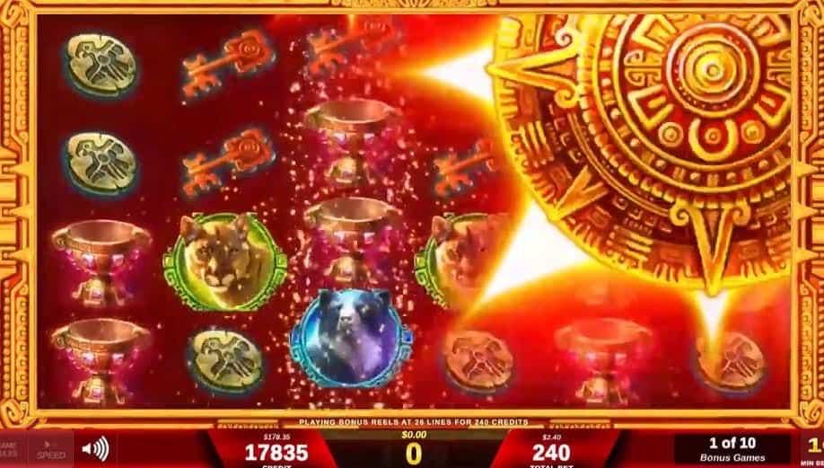 Oltre al gioco normale, a Solar Disc hai la possibilità di vincere delle partite bonus