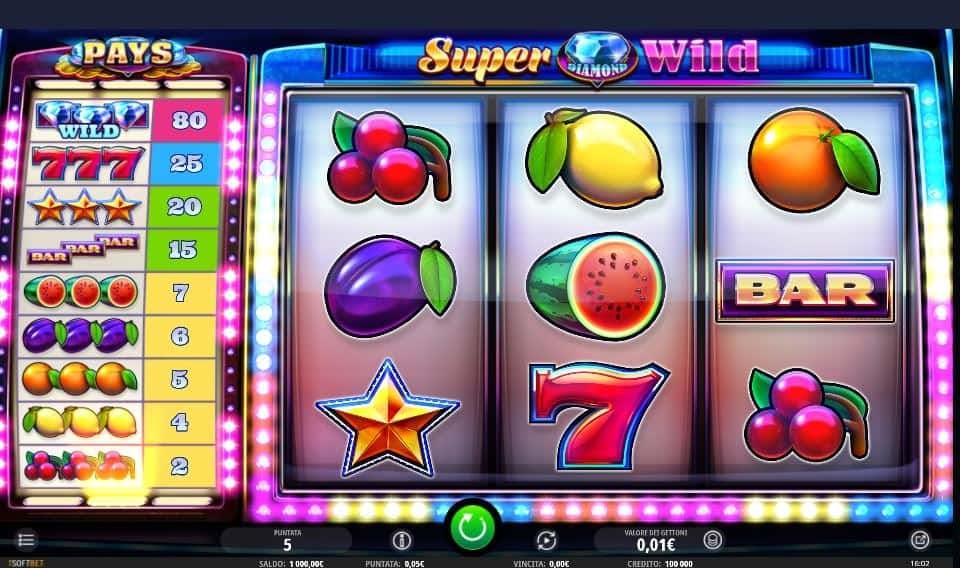 I simboli della slot online Super Diamond Wild