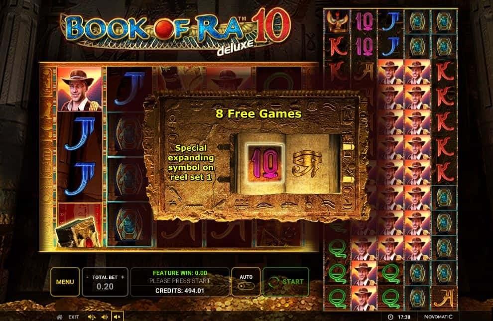 Oltre al gioco normale, a Book of Ra 10 Deluxe hai la possibilità di vincere delle partite bonus