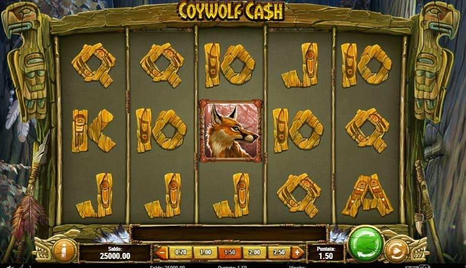I simboli della slot online Coywolf Cash