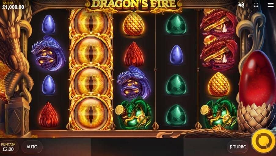 I simboli della slot online Dragons Fire