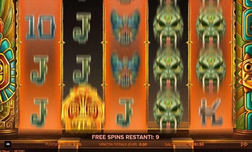 Oltre al gioco normale, a Rise of Maya hai la possibilità di vincere delle partite bonus