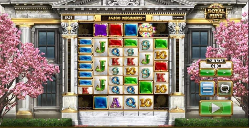 I simboli della slot online Royal Mint Megaways