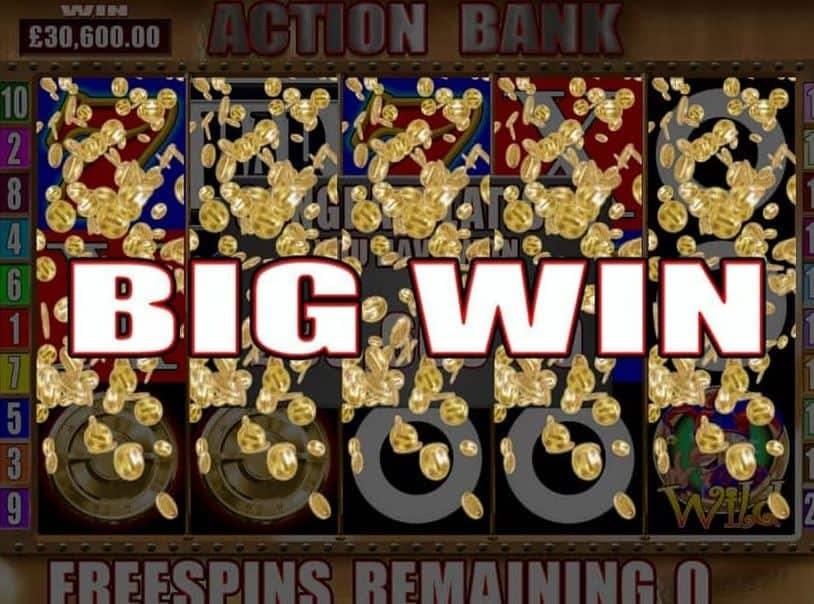 Oltre al gioco normale, a Action Bank hai la possibilità di vincere delle partite bonus
