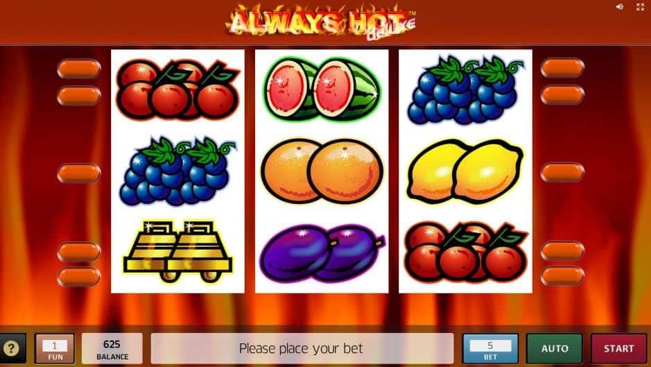 I simboli della slot online Always Hot Deluxe
