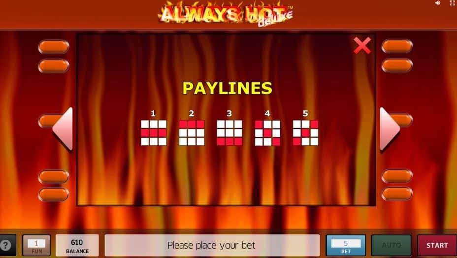 Per vincere a Always Hot Deluxe i simboli sulle linee vincenti devono comparire nella giusta combinazione