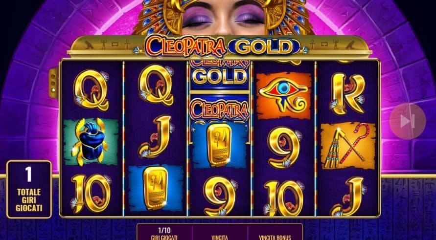 Oltre al gioco normale, a Cleopatra Gold hai la possibilità di vincere delle partite bonus
