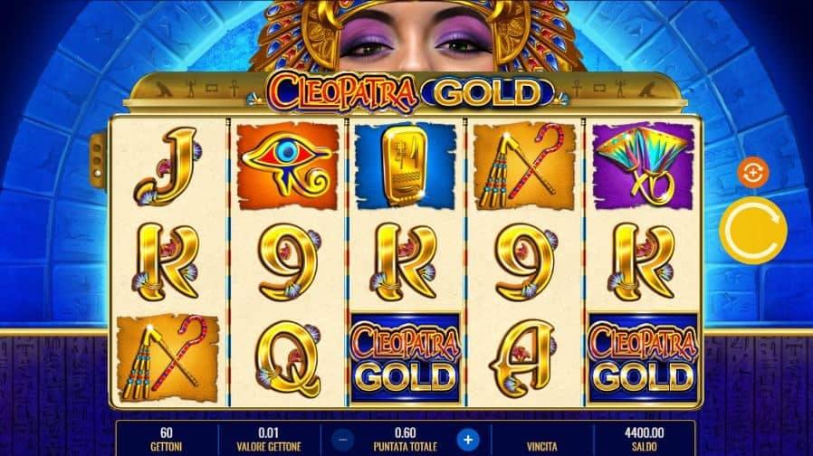 I simboli della slot online Cleopatra Gold