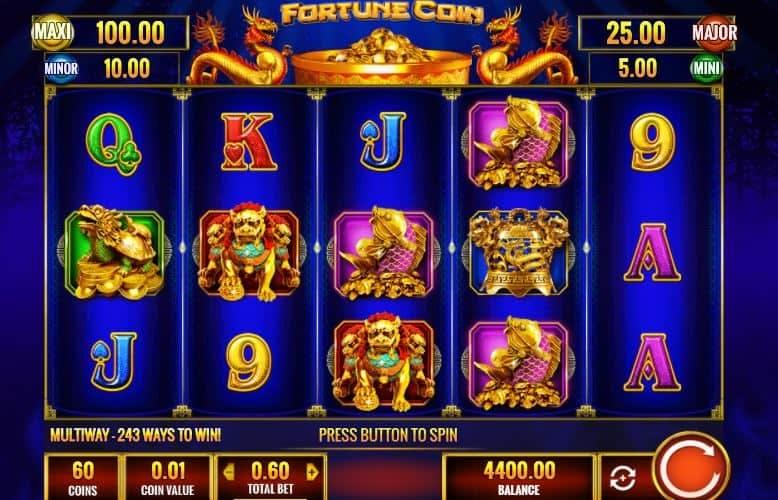I simboli della slot online Fortune coin