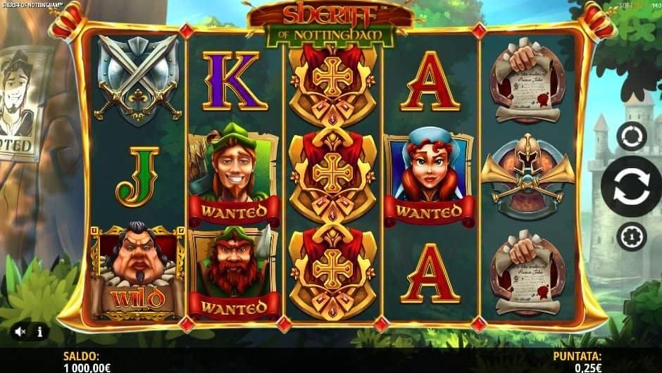 I simboli della slot online Sheriff of Nottingham