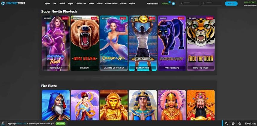 Slot machines su Fantasyteam
