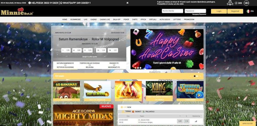 Slot machines su Minniebet