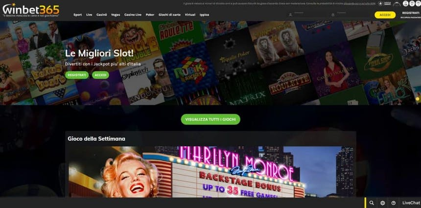Slot machines su Winbet365