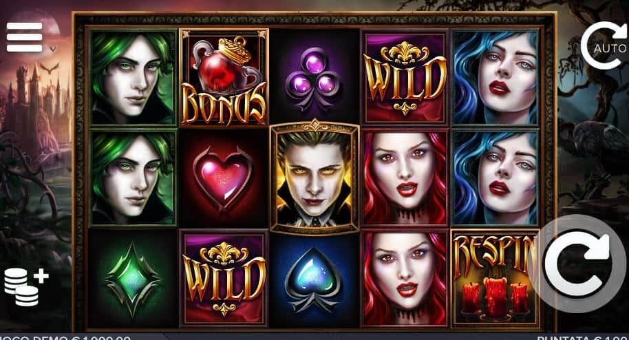 I simboli della slot online Blood Lust