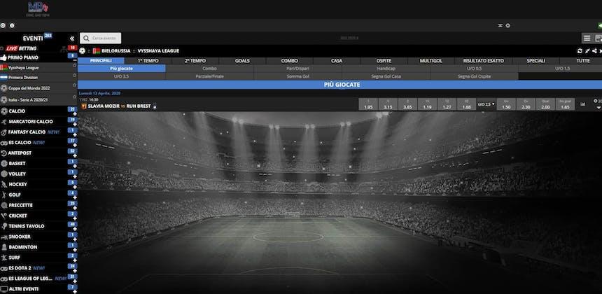 Prova le scommesse sportive online di Mediabet