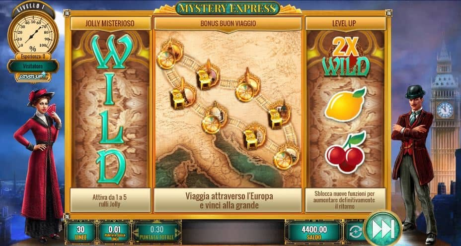 I simboli della slot online Mystery Express