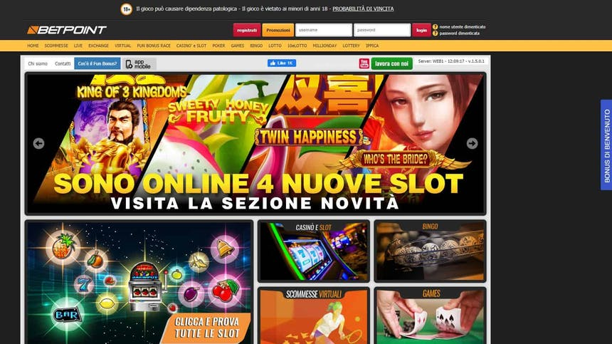 Slot machines su Betpoint