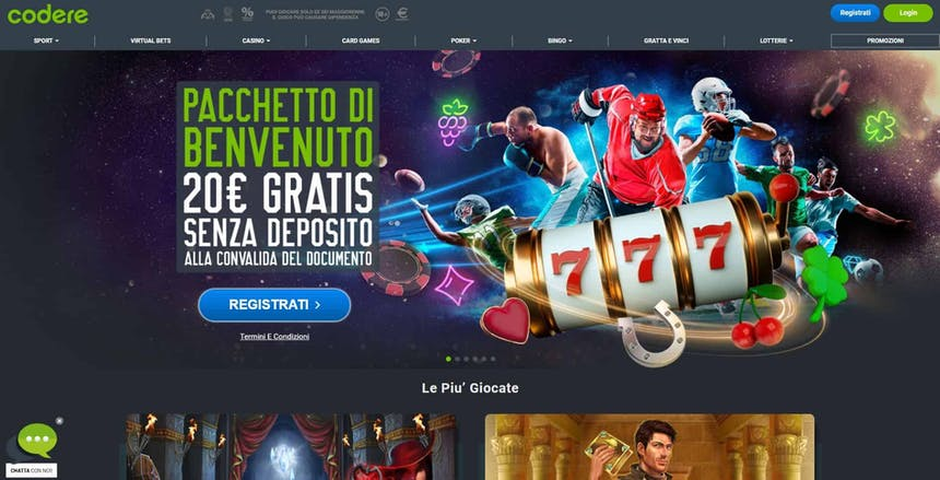 Slot machines su Codere