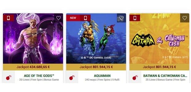 Sbancato il jackpot della slot Gladiator: vinti 3 milioni