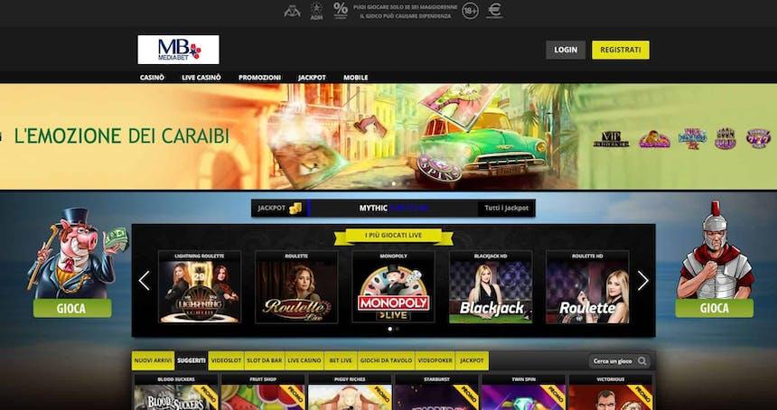 Slot machines su Mediabet