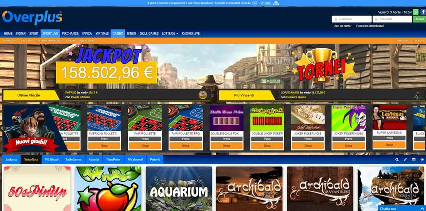 Slot machines su Overplus