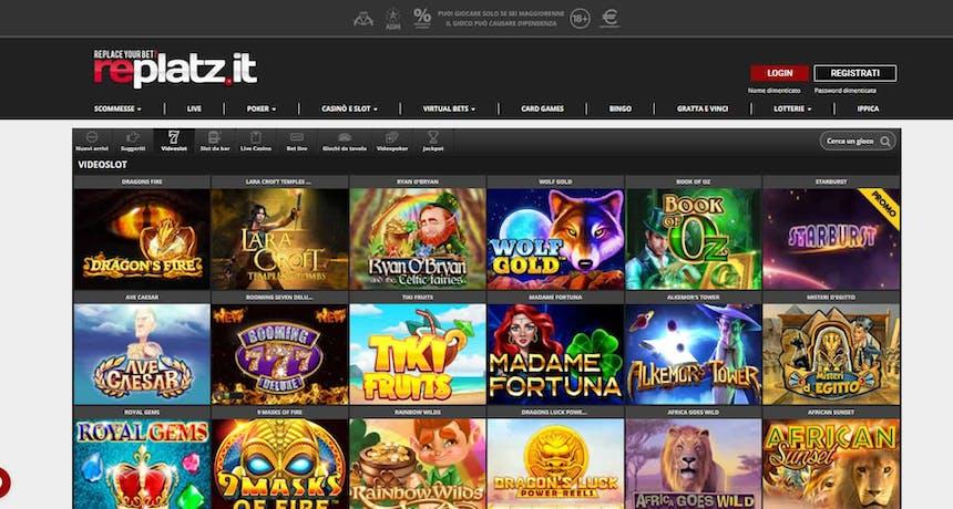 Slot machines su Replatz