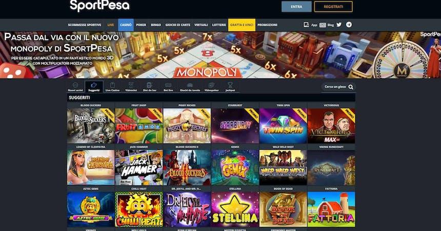 Slot machines su SportPesa