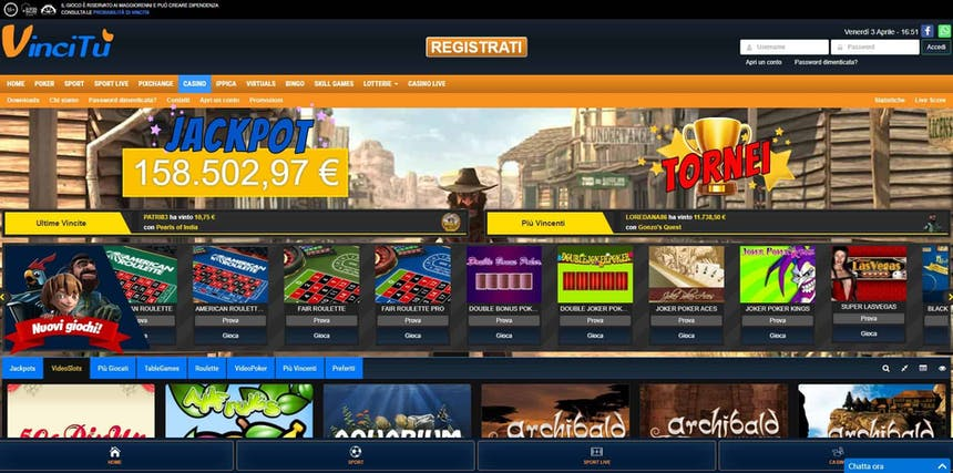 Slot machines su Vincitu