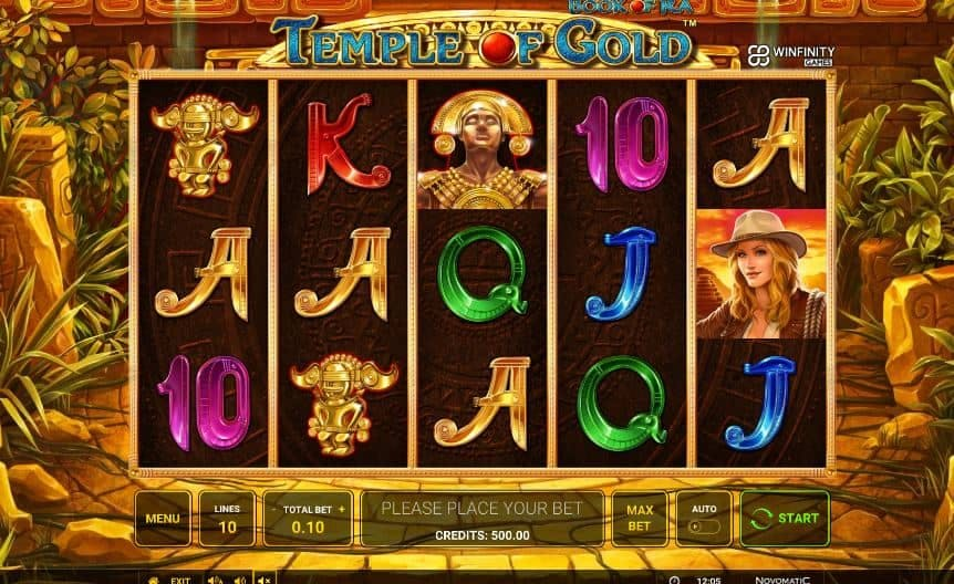 I simboli della slot online Book of Ra Temple of Gold