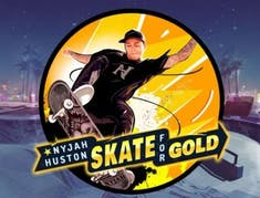 Nyjah Huston Skate for Gold logo