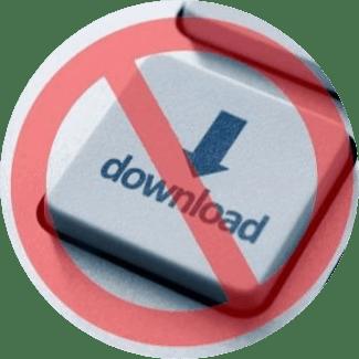 no download slot