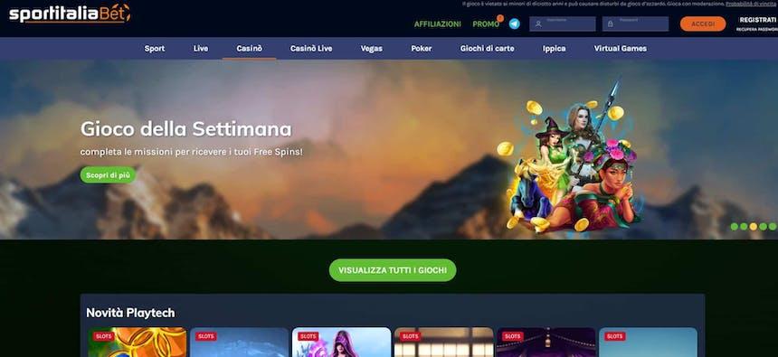 Slot machines su SportitaliaBet