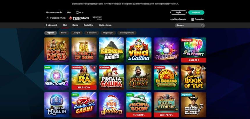 Slot machines su PokerStars