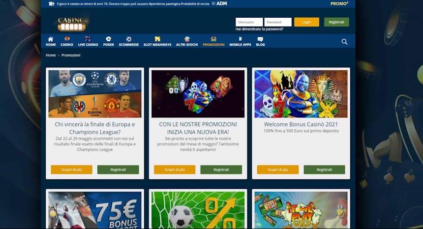 Bonus e Promozioni di Casinomania