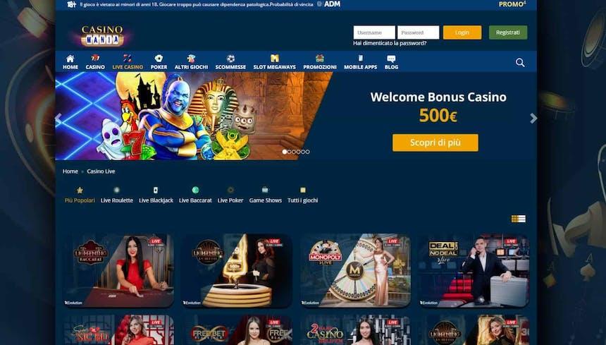 Il casino dal vivo di CasinoMania presenta diversi tavoli virtuali