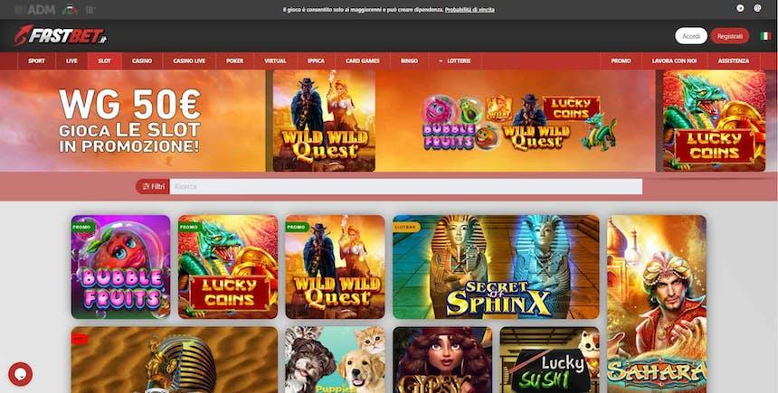 Slot machines su Fastbet