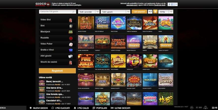 Slot machines su Videoslots